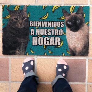 Felpudo personalizado con fotos de gatos