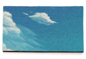 Felpudos personalizados con fondo de nubes