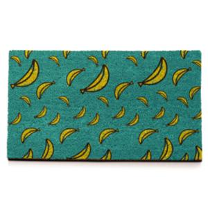 Felpudo con fondo de plátanos