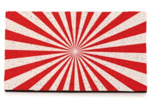 Fondo rojo de rayas