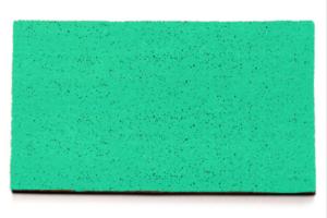 Felpudo con fondo verde