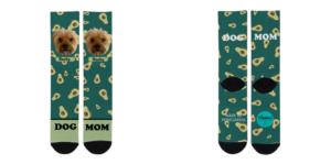 Diseño de aguacates para los calcetines